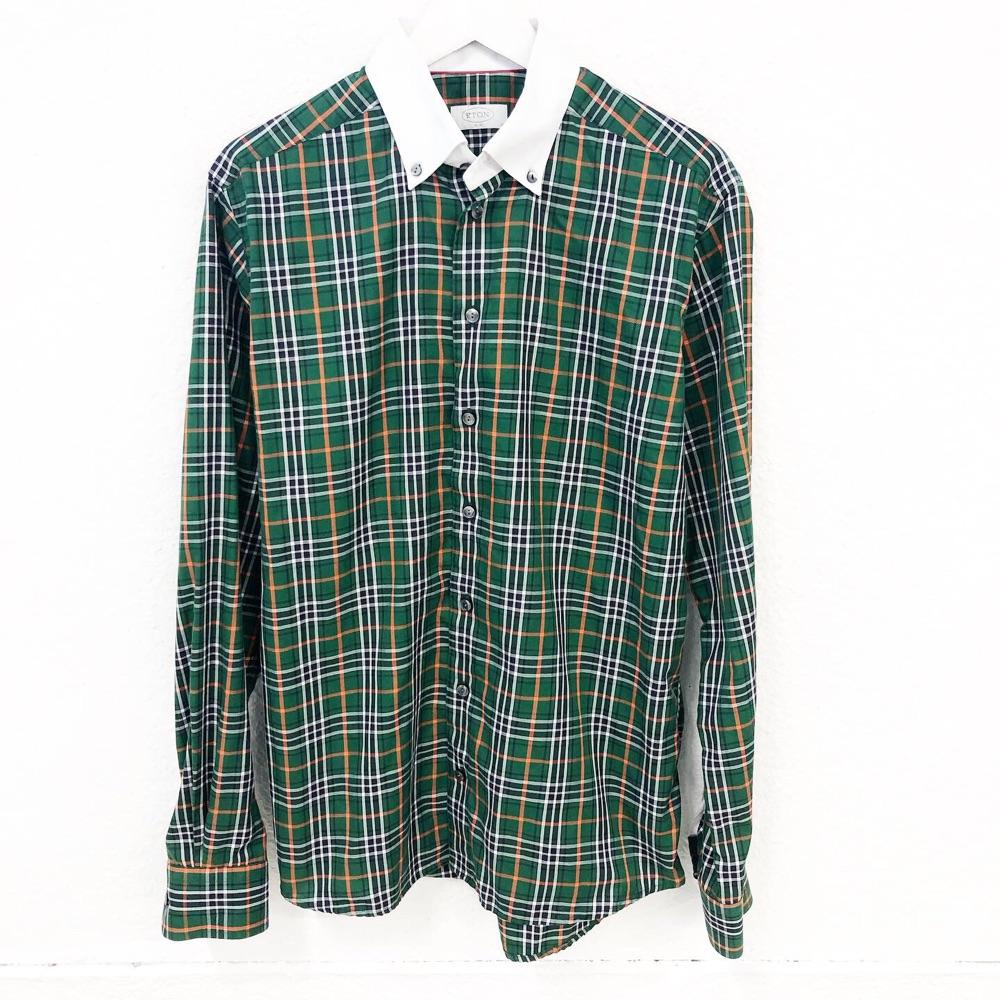 81b773fd Eton Rutete skjorte | Fretex